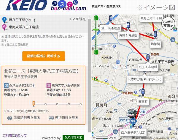 西 東京 バス 時刻 表